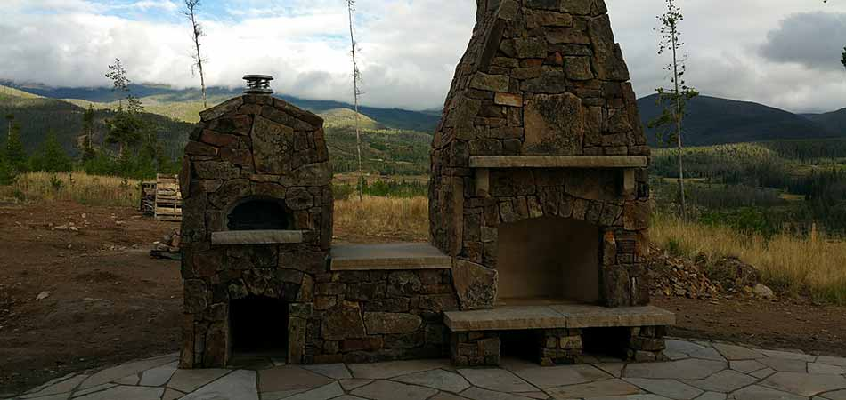 Hardscape elements that we have built for customers in Winter Park include fireplaces.