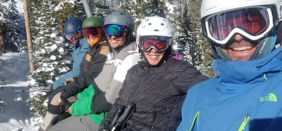 Alpine Landscape Service team on a ski trip.